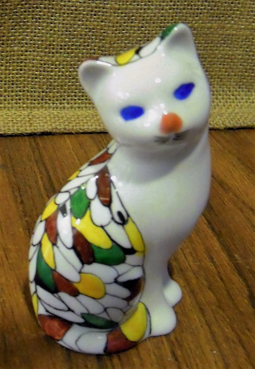 2016 11 09 - Porcelaine - Chat Multicolor