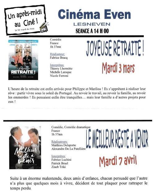 Cinema mars avril
